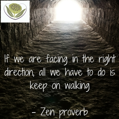 If we are facing in the right direction, all we have to do is keep on walking- Zen proverb